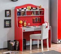 Froschkönig24 Cilek RACECUP Schreibtisch Kinderschreibtisch Kindertisch Tisch Rot/Grau