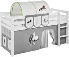 Tunnel 'Pferde Grün' für Hochbett, Spielbett und Etagenbett
