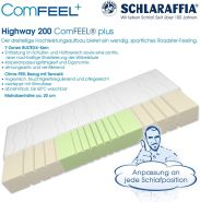 Schlaraffia 'Highway 200 ComFEEL' 7-Zonen Kaltschaum-Matratze H2, 80 x 200 cm
