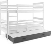 Interbeds 'Eryk 3' Etagenbett weiß/grau 80x160cm