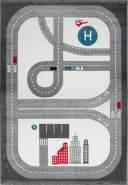 Livone Kinderteppich Happy Rugs Playtime Silbergrau/anthrazit/Weiß 120x180 cm