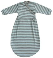 Popolini Felinchen Schlafsack Blue Grey Striped Blau Grau tog 0,5 Interlock GOTS Jersey Bio-Baumwolle 100% kbA 62/68
