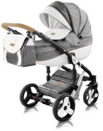 Milu Kids Starlet Plus 3in1 Kombikinderwagen St-42p grau mit schwarzer Babyschale