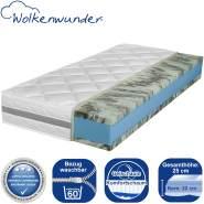 Wolkenwunder Doppel-Gel KS Gel-Komfortschaummatratze 200x220 cm (Sondergröße), H2 | H2 Partnermatratze