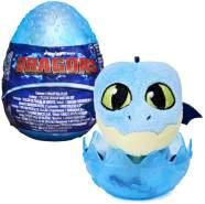 SpinMaster - Drachen-Ei | DreamWorks Dragons | Dragon-Egg Plüsch-Figur Kobaltblau