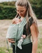 LIMAS Babytrage Halfbuckle | 50 -86 cm | Bauchtrage & Rückentrage & Hüfttrage | ab Geburt bis Kleinkindalter | Baby Carrier | Jade