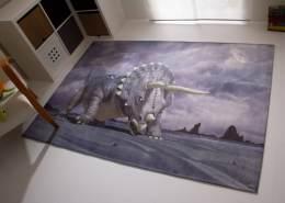 Steffensmeier 'Pangaea Triceratops' Kinderteppich, 80x150 cm