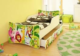 Best For Kids Kinderbett mit Schaummatratze 80x160, grün