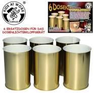 Corvus A750441 - Dosen für Dosenlichter, 6 Stück