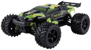 Overmax X-Monster 3.0 Monster Truck ferngesteuertes RC Auto - unglaubliche 45 km/h schnell - TÜV zertifiziert - 1:18 Maßstab - 2 Akkus - Allrad - 100m Reichweite- Buggy - Ferngesteuert - rasend schnell - 100 Meter Reichtweite - ferngesteuerter Monstertruc