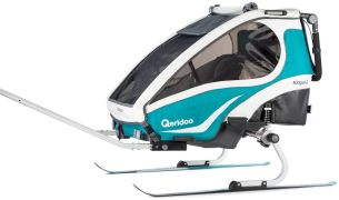Qeridoo Fahrradanhänger Ski & Hike Set, kompatibel mit Speedkid ab 2020