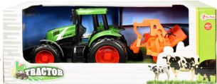 Traktor mit Pflugreibung 31 cm grün/orange
