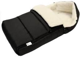 BABYLUX Winterfußsack mit Lammwolle 90 cm Schwarz, universell einsetzbar