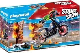 Playmobil® Stuntshow 70553 'Stuntshow Motorrad mit Feuerwand', 26 Teile, ab 4 Jahren