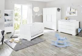 Pinolino 'Polar' 3-tlg. Babyzimmer-Set weiß, breit, 3-türig