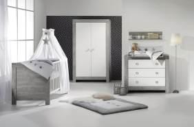 Schardt 'Nordic Driftwood' 3-tlg. Babyzimmer-Set Schrank 2-türig