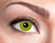 Kontaktlinsen UV Flash Yellow UV-Linsen (leuchten bei Schwarzlicht)1 Monate tragbar