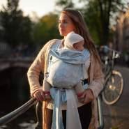 Hoppediz 'Hop-Tye Buckle Amsterdam' Tragetuch aqua