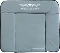 Roba 'Rock Star Baby' Wickelauflage 75 x 85 cm grau/weiß
