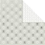Design-Papier, Blatt 30,5x30,5 cm, 180 g, Silber, Engel und Herzen, 3Bl.
