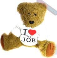 shaniztoons Teddybär I Love My Job