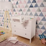 Polini Kids Wickelaufsatz für Kommode Hemnes IKEA in weiß