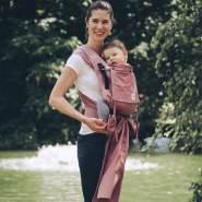 LIMAS Plus Babytrage Halfbuckle| 56 – 104 cm | Bauchtrage & Rückentrage & Hüfttrage | ab Geburt bis Kleinkindalter | Baby Carrier | Blush