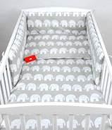 Babylux 'Elefanten Grau' Kinderbettwäsche 40x60/100x135 cm