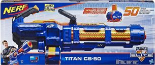 Hasbro - Nerf N-Strike Elite Titan CS-50 Nerf Gun, blau/orange