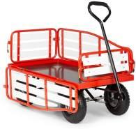 Waldbeck Ventura Bollerwagen Schwerlast 300 kg wetterfest Stahl WPC Rot