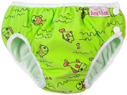 Imse Vimse Schwimmwindel green fish / grüne Fische NB (Newborn) 4-6 kg