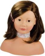 Götz - Schminkkopf mit Zubehör braune Haare
