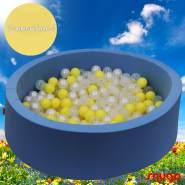 Bio Premium Bällebad SOMMERHIMMEL in hellblau mit 300 Bällen aus Zuckerrohr