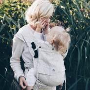 LIMAS Plus Babytrage Halfbuckle   56 – 104 cm   Bauchtrage & Rückentrage & Hüfttrage   ab Geburt bis Kleinkindalter   Baby Carrier   Valerie
