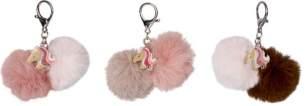 Schlüsselanhänger Pompom Pferdefreunde - 1 Schlüsselanhänger, zufällige Auswahl, keine Vorauswahl möglich