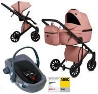 Anex 'e/type' Kombikinderwagen 4plusin1 2020 in Peach mit Swandoo Babyschale
