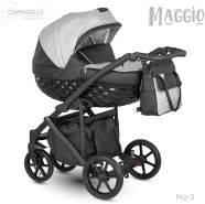 Camarelo Maggio 3in1 Kombikinderwagen Mg-3 grau/ schwarz