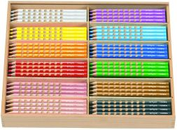 Lyra - Groove Holzkasten mit 144 Farbstiften, Sortiert