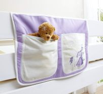 Ticaa Bett-Tasche für Hoch- und Etagenbetten - horse lila
