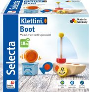 Selecta 62078 Klettini, Boot, Klett-Stapelspielzeug, 6 Teile, bunt