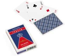 Dal Negro 21042 - Poker Italia Blu Spielkarten