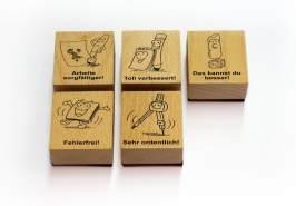Das Grundschul-Korrekturstempel-Set: Korrigieren kinderleicht - mit 5 prägnanten Stempeln (1. bis 4. Klasse)