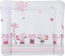 Schardt 13 610 00 00 1/655 Wickelauflage Banjo pink, abwischbare Folie, 84 x 74 cm