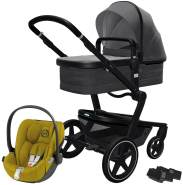 Joolz 'Day+' Kombikinderwagen Awesome Anthracite inkl. Cybex Cloud Z Plus Babyschale Mustard Yellow