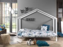 Vipack 'Dallas 3' Hausbett 90 x 200 cm, weiß