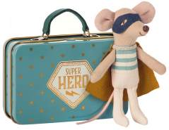 Maileg Mouse Superhero Mouse in Suitcase
