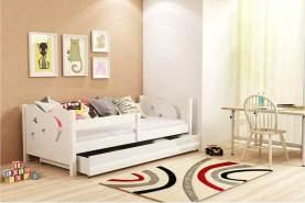 Stylefy Brisko Einzelbett Weiß Weiß