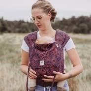 LIMAS Babytrage Halfbuckle | 50 -86 cm | Bauchtrage & Rückentrage & Hüfttrage | ab Geburt bis Kleinkindalter | Baby Carrier | Mandala Cinnamon