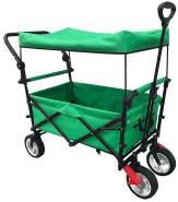 Vedes - OA Bollerwagen mit Dach+Griff, faltbar grün