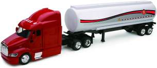 New Ray LKW 1/43 Peterbilt Chrome Trailer Collection Maßstab, 810121, Rot